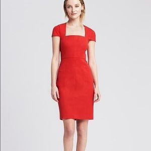 Banana Republic NWT red sheath dress size 0